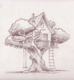 treehouse drawings - Google Search                                                                                                                                                                                 More