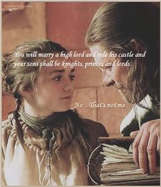 Arya and Ned Stark