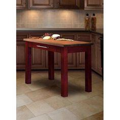 Martins Homewares Soho Kitchen Prep Table Base Finish: Red