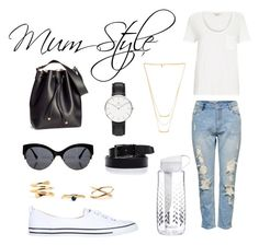 """""""Mum Style"""" by itscassandralee ❤ liked on Polyvore featuring Lipsy, Converse, River Island, H&M, Daniel Wellington, Gorjana and Brita"""