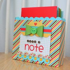 Doodlebug Design Inc Blog: Gift Idea DIY: Card Box Set by Shellye McDaniel #gift #cards #handmade @Doodlebug Design Inc