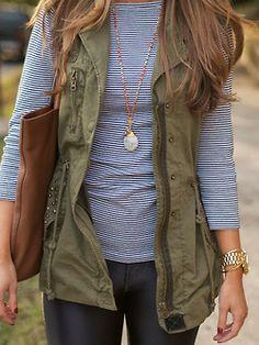 vest, stripes, leather