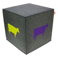 a cow to sit on www.ebos-geschenke.de, sitzwürfel, sitzhocker, #ebos #sitzwürfel #filz