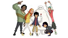 'Big Hero 6' cast returns to voice new animated series     - CNET Much of the Big Hero 6 movie cast will return to voice the animated series. Photo by                                            Disney                                          On a scale of 1 to 10 we would rate this news an 11 Baymax.  Big Hero 6 fans already knew the 2014 film was getting an animated television series on Disney XD in 2017 but now theres even better news.   Most of the movies voice cast including Ryan Potter…