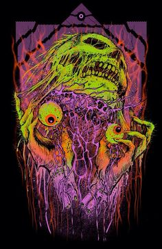 by Aaron Crawford Arte Zombie, Zombie Art, Arte Dope, Dope Art, Arte Horror, Horror Art, Psychedelic Art, Arte Black, Arte Indie