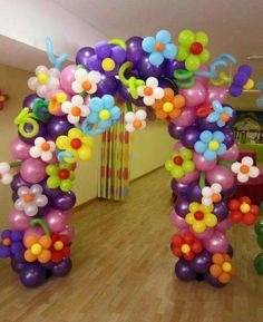 Flower from balloon