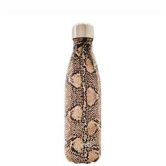 S'Well Insulated Stainless Steel Bottle EXOTICS Collection - Sand Python for sale online Swell Bottle, Bottle Shop, Reusable Water Bottles, Insulated Water Bottle, Best Water Bottle, Stainless Steel Water Bottle, Drinking Water, Exotic, Pure Products