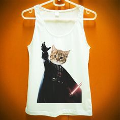 Cat Vader Kitten Kitty Darth Vader Starwars Star wars Jedi Animal Funny Shirt Tank Tops Women Girl Size S M L XL on Etsy, $14.99