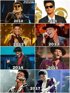 All years. Bruno Mars
