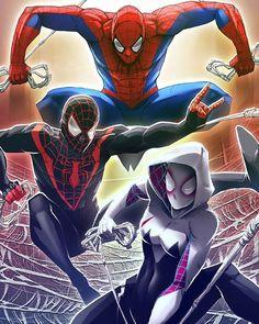 Spider-Man,  Ultimate Spider-Man and Spider-Gwen