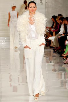 Ralph Lauren Spring 2012 Ready-to-Wear Fashion Show - Bruna Tenorio