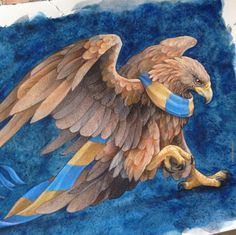 Ravenclaw Mascot and Scarf