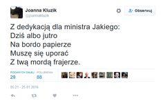 Fot.screenshot/Twitter/Joanna Kluzik-Rostkowska