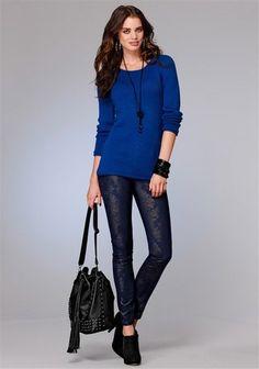 Laura Scott Pullover im Online Shop von Ackermann Versand Laura Scott, Shops, Pullover, Blue, Sea, Shopping, Women, Fashion, Moda