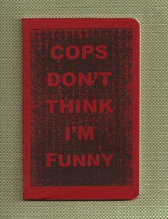 Moleskine Pocket Notebook - Gocco Print - Cops - misschief