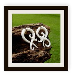 Fake gauge earrings  X Small twist  Bone Split Gauge by ANELAJADE, $14.99