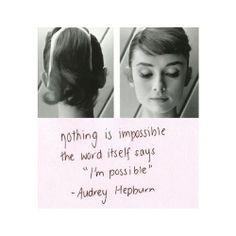 Audrey Hepburn #inspo