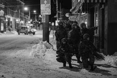 Members of the West Nova Scotia Regiment conduct dismounted infantry operations during Exercise Semper Town.  The exercise took place in the Town of Windsor, Nova Scotia, from 06 February to 08 February 2015. Photo by: Cpl Steve Wilson, Wing Imaging, 14 Air Maintenance Squadron Photos Du, Cool Photos, Canadian Army, Windsor, Military Police, Photos Of The Week, Nova Scotia, Canada, February 2015