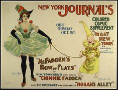 New York Journal's Colored   Comic Supplement   Color lithographic poster   vc192b.jpg (640×488)
