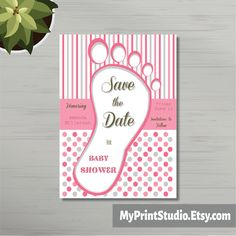 Baby shower save the date online