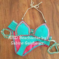 Highwaist bikini ganchillo sexy traje de baño del ganchillo bikini con abertura…