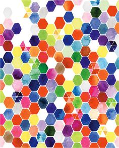 Print- Watercolor Hexagons — Yao Cheng Design thanks @bri emery / designlovefest for turning me on to this artist.