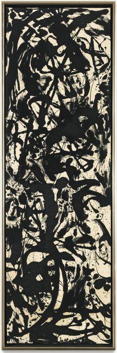 "loverofbeauty: "" Jackson Pollock: Black and White Painting (1952) """