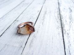 Raw citrine ring | Citrine crystal ring | Citrine and copper ring | Real citrine fashion jewelry | Raw citrine crystal statement ring by HAWKHOUSE on Etsy https://www.etsy.com/listing/265830977/raw-citrine-ring-citrine-crystal-ring