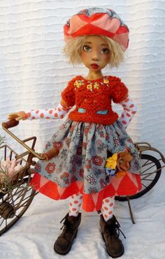 FALL  OUTFIT FOR MSD LAYLA KAYE WIGGS DOLLSTOWN DT7 BY BARBARA