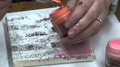 VIDEO: Mixed Media on Canvas - Part #2 (Stamping on Tissue and Painting the Second Time on Your Canvas); by TheStampingbella (Emily)