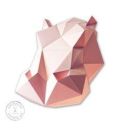 ASSEMBLI - Papieren Nijlpaard D.I.Y. Roze