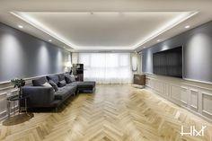 [BY 하우스만] 안녕하세요, 하우스만 인테리어 컨설턴트입니다! 네이버 포스트로 찾아뵙게 되는 첫 포스... Korean Apartment, Apartment Interior, Ceiling Design, Modern Design, Living Room, Interior Design, Architecture, House, Furniture