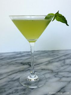 Basil Bliss - try basil simple syrup instead of the liquor.  D suggested something like this a couple days ago.