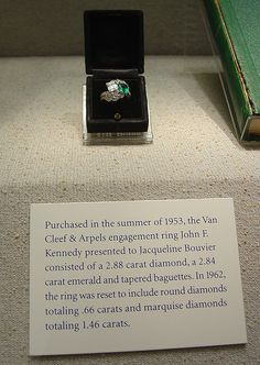 Jackie's engagement ring. I couldn't believe how gaudy it is the first time I saw it.