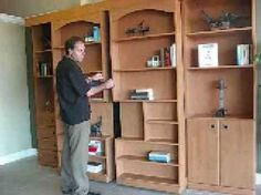 Jefferson Library Murphy Bed - might seem pricey at $ 2,000 but it looks great & you gain a room in your home, instead of having a dedicated guest bedroom.  In that light it's worth it, especially with the big trend in downsizing.    #home