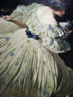 John White Alexander (American artist, 1856-1915) The Blue Bowl 1898