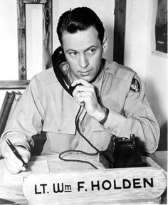 William Holden. He served as a 2nd lieutenant in the Air Force during World War II.