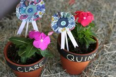 Farm-tastic First Birthday: Flower Pot Favors | Prudent Baby