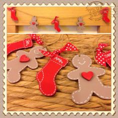 Personalised Wooden Christmas Bunting - The Supermums Craft Fair