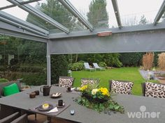 Weinor Terrazza glass roof system