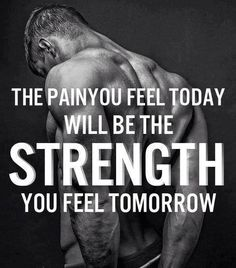 LIKE - SHARE - TAG Motivate others!   The pain you feel today will be the strength you feel tomorrow.   Visit us at www.sweetsweat.com  #quotes #motivation #sports #sweetsweat #workout #fitness #exercise