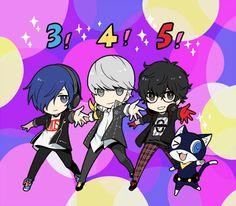 Minato, Yu, Akira, & Morgana | Persona