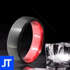 Anniversary Tungsten Carbide Ring - Mens - Jewellerytribe.com #MensRing #TungstenCarbide #CarbideTungsten Tungsten Carbide Rings, Elegant Man, Round Design, Polished Look, Designs To Draw, Simple Designs, Anniversary Gifts, Rings For Men, Wedding Rings