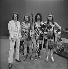 Slade are a rock band from Wolverhampton, who rose to prominence during the glam rock era of the early 1970s.