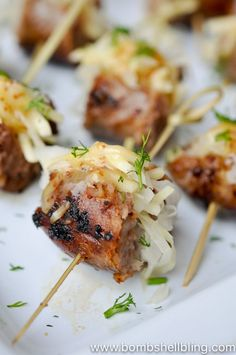 Stuffed Sausage Skewer Appetizer Recipe - Perfect for parties or football!