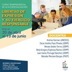 #IDHDES | Reconocidos docentes de nuestra casa de estudios participarán en el curso de alta especialización sobre libertad de expresión.