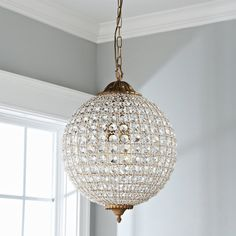 Check out Timeless Grandeur Crystal Orb Chandelier from Shades of Light Round Crystal Chandelier, Ring Chandelier, Large Pendant Lighting, Hanging Chandelier, Iron Chandeliers, Chandelier Shades, Pendant Chandelier, Small Chandeliers, Crystal Lights
