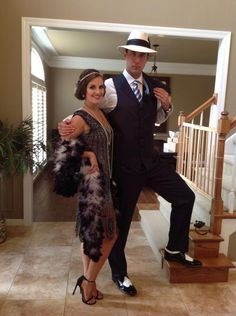 Adam Wainwright and his wife look awesome for the Make-A-Wish Roaring 20's party.  :)