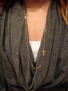 Pretty cross necklace.