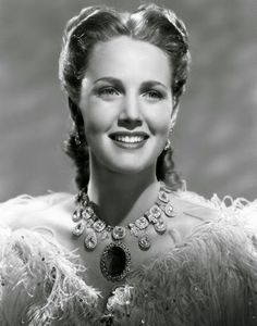Barbara Britton in Return of Monte Cristo wearing Joseff of Hollywood jewelry